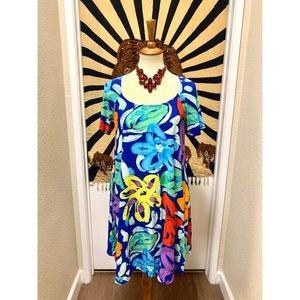 Amazing Pop Art inspiration bright flower dress